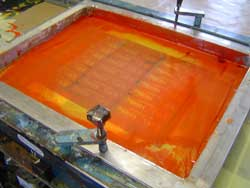 Photo of screen printing at Bade Newby